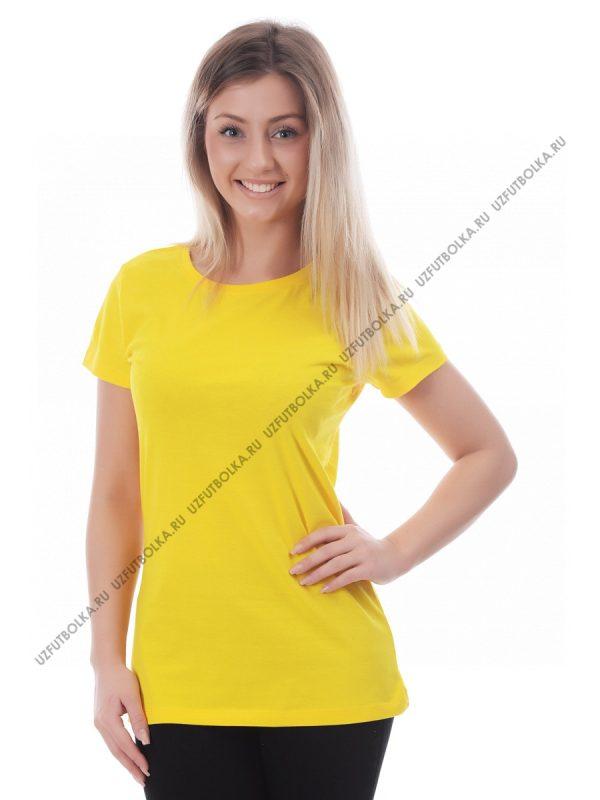 Футболка женская жёлтая
