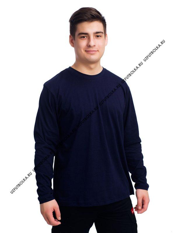 Лонгслив мужской темно-синий