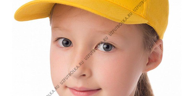 Бейсболка детская желтая
