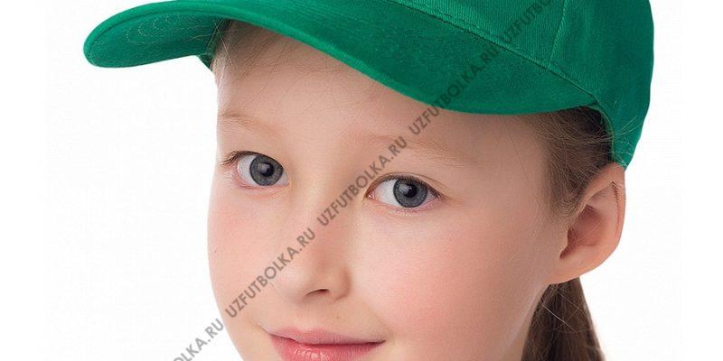 Бейсболка детская зеленая