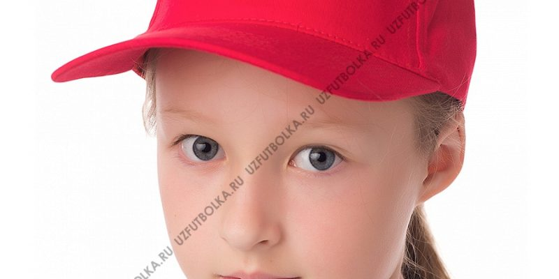 Бейсболка детская красная