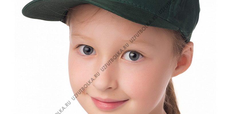 Бейсболка детская темно-зеленая