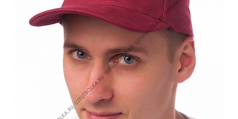 Бейсболка мужская бордовая