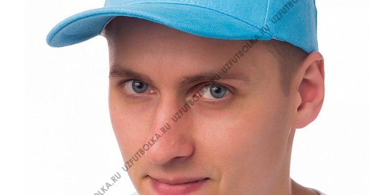 Бейсболка мужская голубая