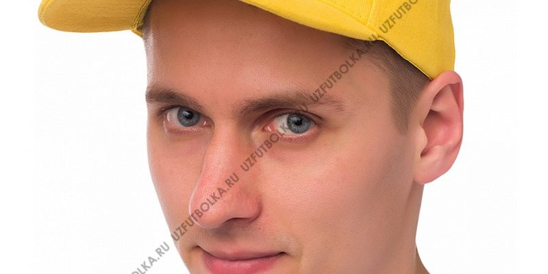 Бейсболка мужская желтая