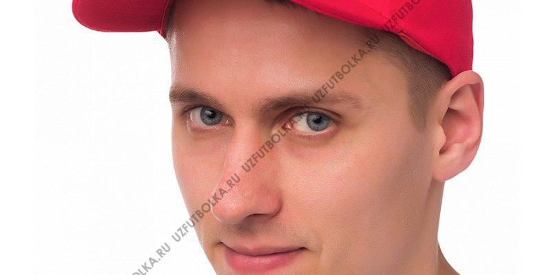 Бейсболка мужская красная