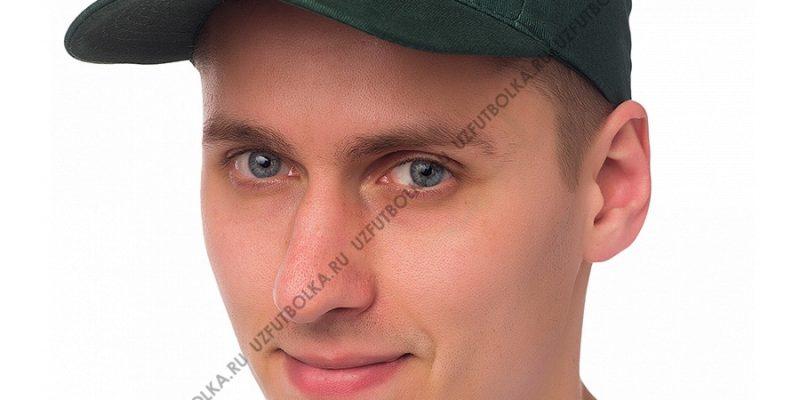 Бейсболка мужская темно-зеленая