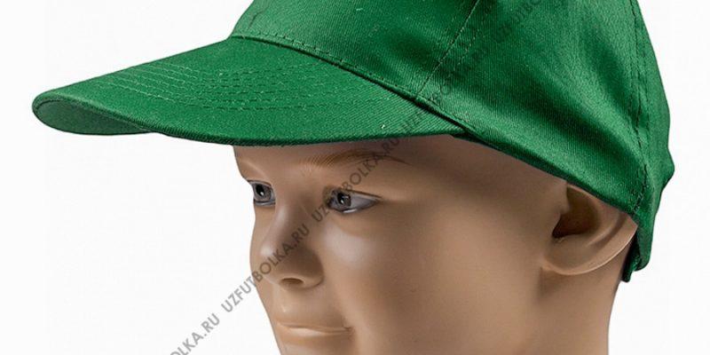 Бейсболка промо зеленая (трава)