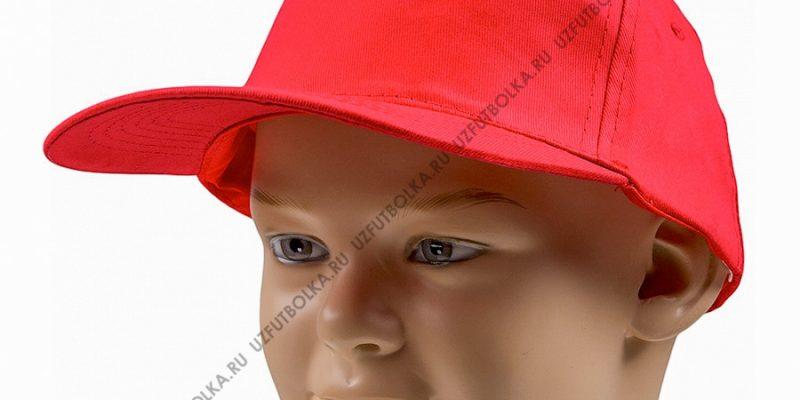 Бейсболка промо красная