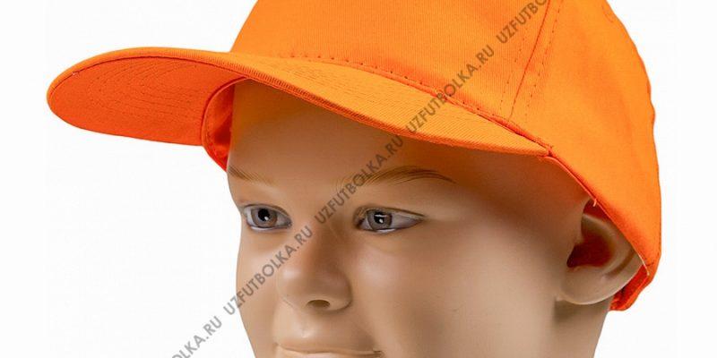 Бейсболка промо оранжевая