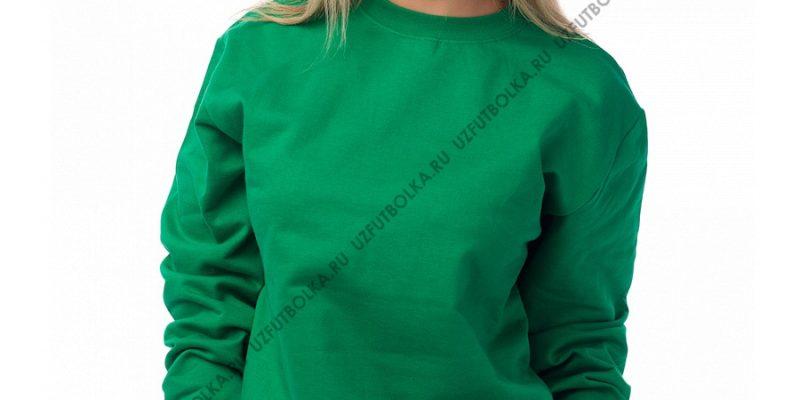 Женский свитшот зеленый