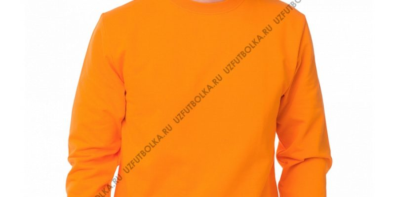 Мужской свитшот оранжевый