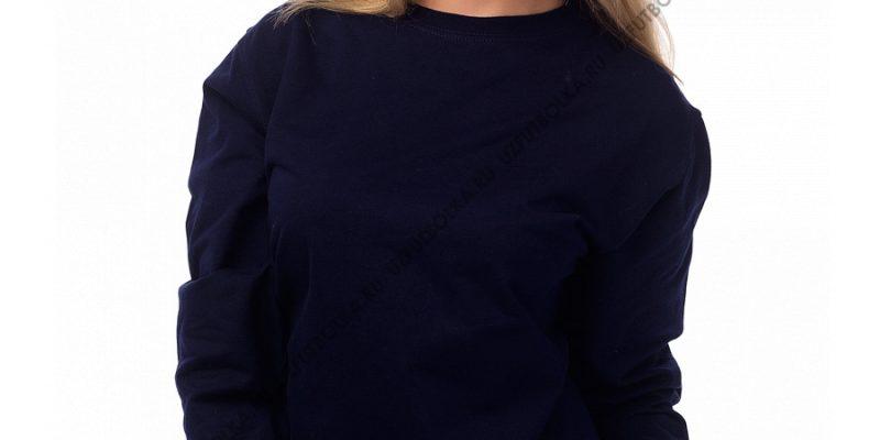 Женский свитшот темно-синий