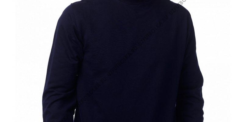 Мужской свитшот темно-синий