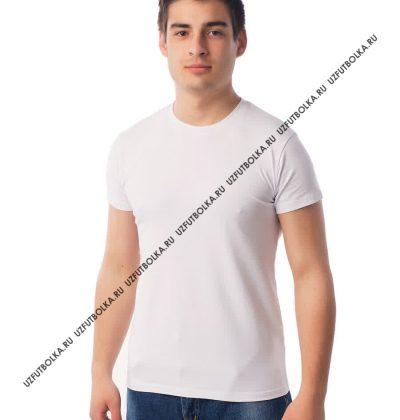 Белые футболки оптом. Цвет  Футболка с лайкрой белая мужская 20c7f478f7429