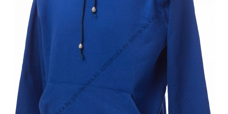 Промо толстовка синяя 2-х нитка