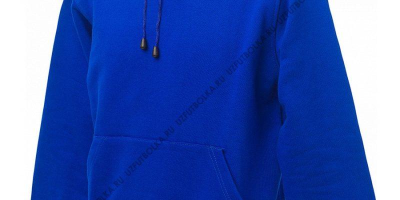 Промо толстовка ярко-синяя 3-х нитка