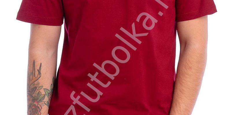 Эконом промо футболка бордовая