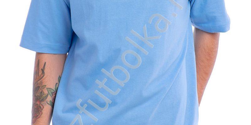 Эконом промо футболка голубая