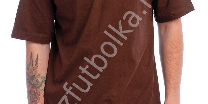 Эконом промо футболка коричневая