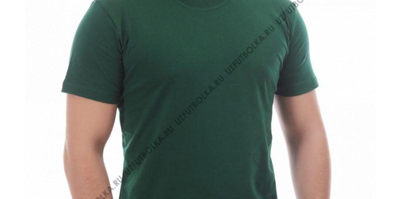 Футболка мужская тёмно-зелёная