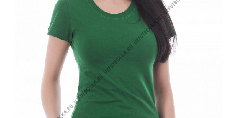 Футболка женская зелёная