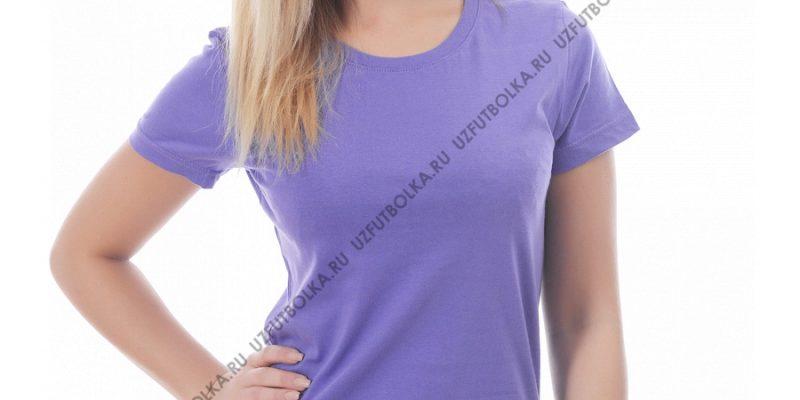 Футболка женская фиолетовая