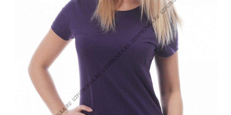 Футболка женская тёмно-фиолетовая