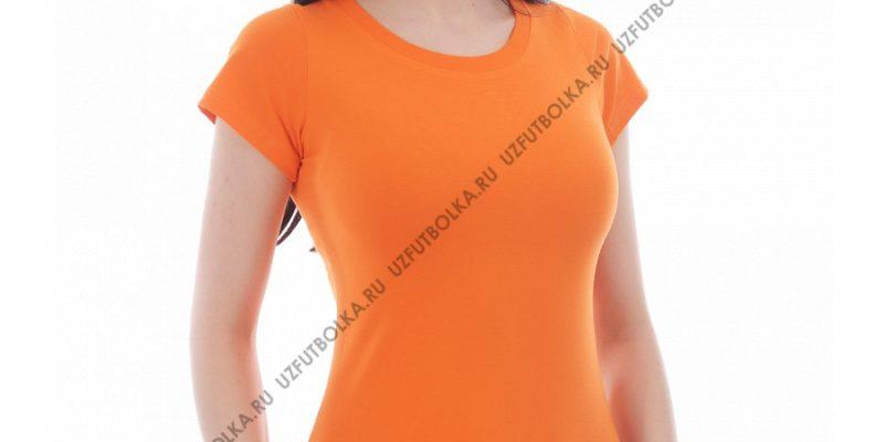 Футболка лайкра женская оранжевая