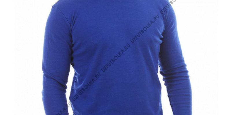 Лонгслив мужской ярко-синий