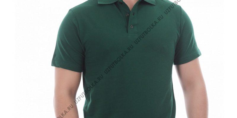 Поло мужская тёмно-зелёная