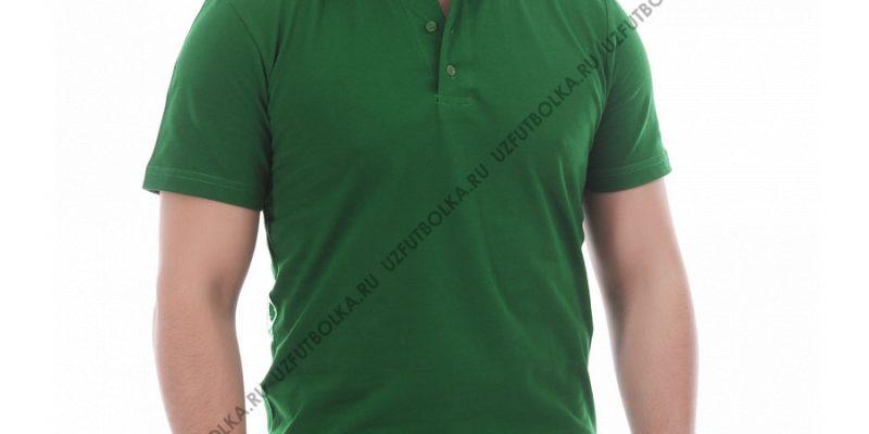 Поло мужская зелёная